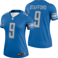 Nike Detroit Lions Women's Blue Matthew Stafford Legend Jersey